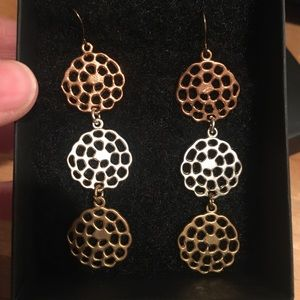 18k Gold Plated Italian Earrings